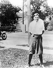Ronald Reagan as a teenager in Dixon, Illinois