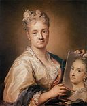 Rosalba Carriera - Self-Portrait Holding a Portrait of Her Sister - WGA4502.jpg