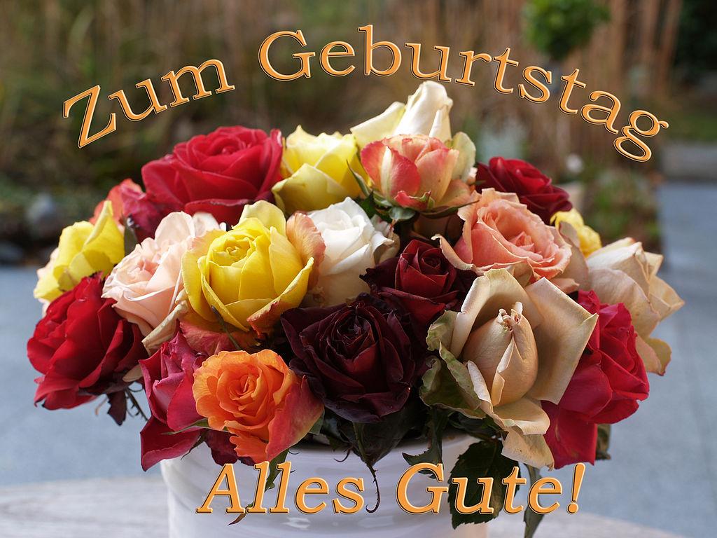 Поздравление по немецки с днем рождения