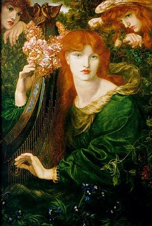 Alexa Wilding - La Ghirlandata (1873) modelled by Alexa Wilding, by Dante Gabriel Rossetti