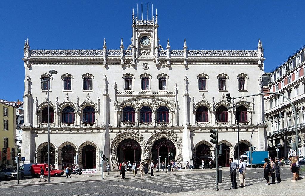Gare de Rossio dans le quartier de Baixa : Le centre de Lisbonne.