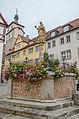 Rothenburg ob der Tauber, Kapellenplatz, Brunnen-20121102-001.jpg