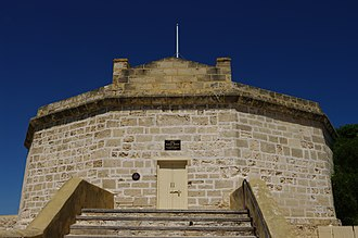 Round House (Western Australia) - The Round House from the east