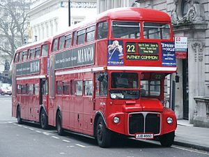London Buses route 22 - London General AEC Routemaster on Regent Street in March 2004