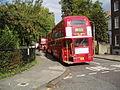 Routemaster buses at Clapton Pond terminus.jpg
