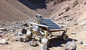 PTScientists - Rover Asimov Jr. R3 during test drives in Eisenerz, Austria, end of April 2012