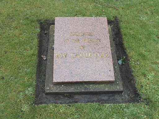 Roy Castle memorial plaque, St Lukes, Liverpool
