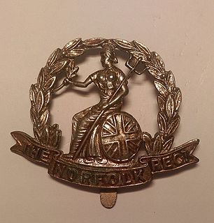 Royal Norfolk Regiment Infantry regiment of the British Army