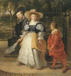 Rubens walkinthe garden