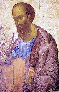 Andrej Rublëv, Icona di san Paolo (1407 circa, 110x160 cm, Galleria Tret'jakov, Mosca)