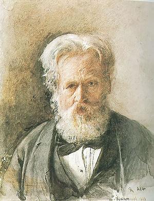 Rudolf von Alt - Self-portrait (1890)