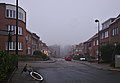 Rue François Bekaert photographed from East to West on a foggy December late afternoon (Auderghem, Belgium).jpg