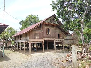 Rumoh Aceh - Acehnese traditional house in Piyeung Datu village, Montasik subdistrict, Aceh Besar regency