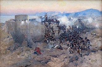 Storming of Lankaran - Storming of Lankaran, January 13th, 1813. Painted by Franz Roubaud.