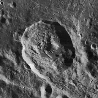 Rutherfurd (crater) - Lunar Orbiter 4 image