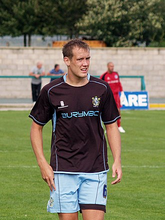 Ryan Cresswell - Cresswell playing for Bury in 2008
