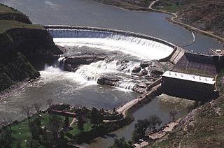 Ryan Dam dam in Cascade County, Montana, USA