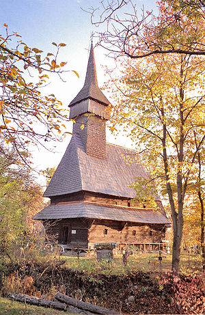 Romanian architecture - Wooden church in Maramureş