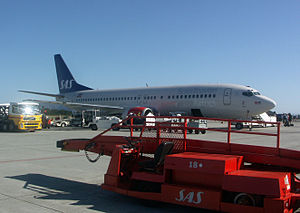 Ålesund Airport, Vigra - Boeing 737-800 of Scandinavian Airlines