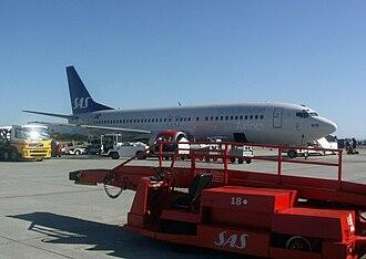 Ålesund Airport, Vigra - Boeing 737-800 of Scandinavian Airlines