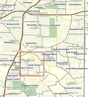 South Atlanta Neighborhoods of Atlanta in Fulton County, Georgia, United States