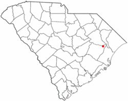 Location of Hemingway, South Carolina