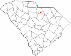 Location of Kershaw, South Carolina