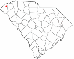 Location of Salem, South Carolina