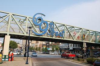 Upper Darby Township, Delaware County, Pennsylvania - Footbridge at 69th Street Transportation Center