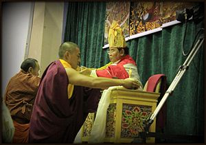 Sogyal Rinpoche - Sogyal Rinpoche performing an empowerment ritual in Bhutan