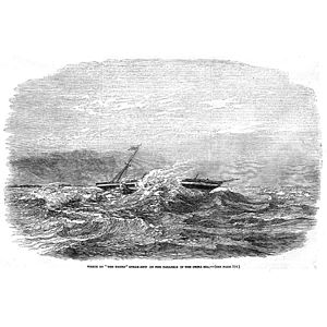 "Charles George Baker - Engraving of the wreck of the Steamship ""Douro"" on the Paracels in the China Sea, taken from the Illustrated London News, 5 August 1854"