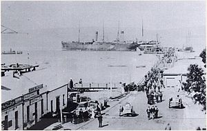 SS Ferret - SS Ferret moored at Albany Town Jetty (date unknown)