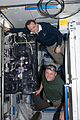 STS-134 ISS-28 Michael Fincke and Ron Garan on the Carbon Dioxide Removal Assembly.jpg