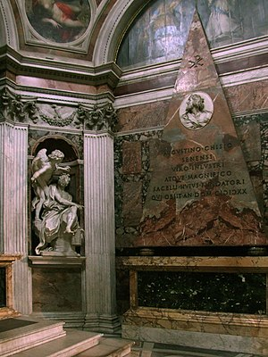 Angels & Demons - Bernini's Habbakuk and the Angel, and Agostino Chigi's pyramidal wall tomb.