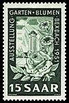 Saar 1951 307 Hindenburgturm Bexbach - Garten und Blumen.jpg