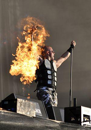 Joakim Brodén - Joakim Brodén performing at Wacken Open Air in 2013