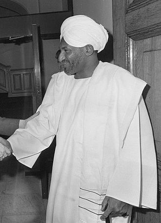 1986 Sudanese parliamentary election - Image: Sadiq al Mahdi 1987b