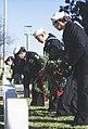 Sailors lay wreaths during a Wreaths Across America ceremony. (38451897804).jpg