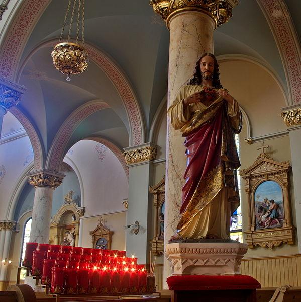 1966 Old Car Sacred Heart Church Oscoda MI Iosco Co