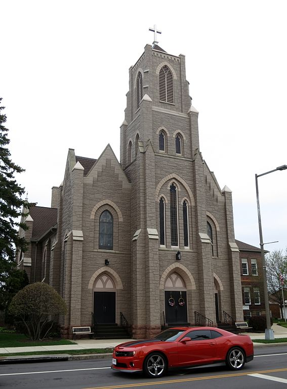 Px Saint Joseph Catholic Church Crestline C Ohio Exterior With Chevrolet Camaro