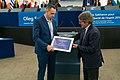 Sakharov Prize 2018 laureate Oleg Sentsov receives his award (49126867918).jpg