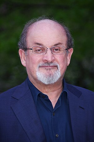 Salman Rushdie at the Vanity Fair party celebr...