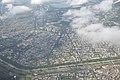 Salt Lake City with Kestopur Canal and Central Park - Aerial View - Kolkata 2016-08-04 5677.JPG