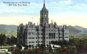 Salt Lake City and County Building - circa 1923