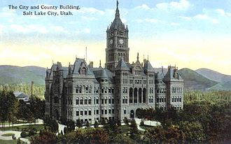 Salt Lake County, Utah - Salt Lake City and County Building circa 1923