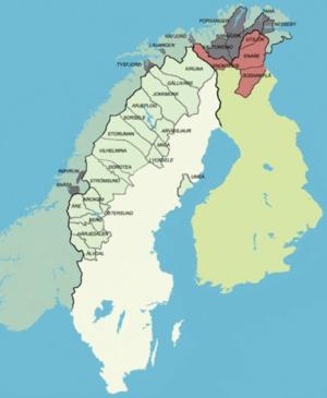 kart over åre i sverige Samiske kommunar – Wikipedia kart over åre i sverige