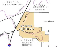 Sabre Springs and neighborhood boundaries