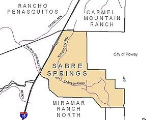 Sabre Springs, San Diego Community of San Diego in California