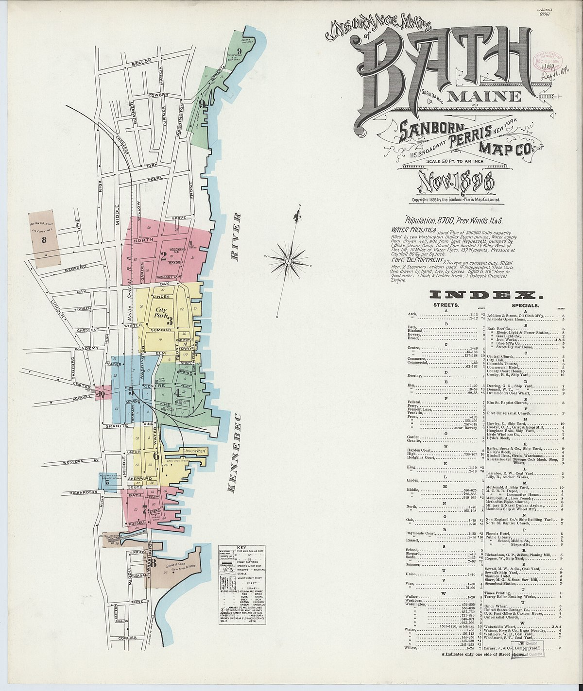 map of bath maine File Sanborn Fire Insurance Map From Bath Sagadahoc County Maine map of bath maine