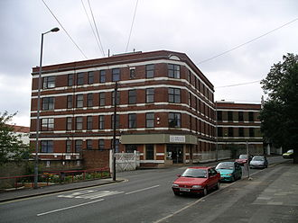 The Great Horseless Carriage Company - Image: Sandy lane in coventry 1906 7 office block 17s 07